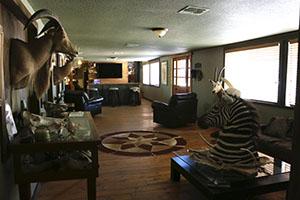 Texas Hunt Lodge Living Room