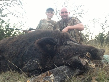 Father Son Hog Hunt Texas